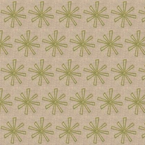spring green star on linen