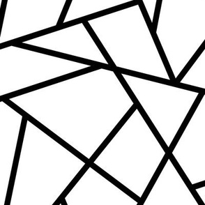 Abstract Geometric Black on White Large