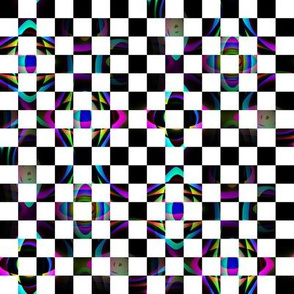 Black and White Checkerboard with a Fractal Twist
