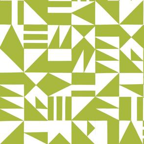 Abstract Cutouts Avocado