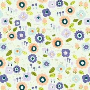 Spring floral - mint