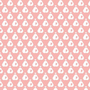 Pears in pastel retro scandinavian style spring summer fruit soft pink for girls