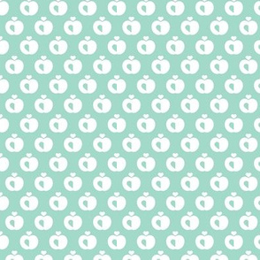 Apples in pastel retro scandinavian style spring summer fruit mint
