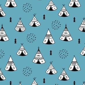 New Indian summer winter geometric scandinavian woodland hippie camping trip blue navy