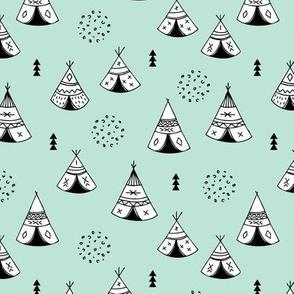 New Indian summer geometric scandinavian woodland hippie camping trip gender neutral mint