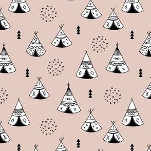 New Indian summer geometric scandinavian woodland hippie camping trip gender neutral beige