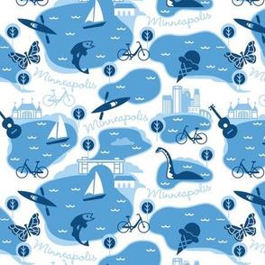 Minneapolis Summer, blue med