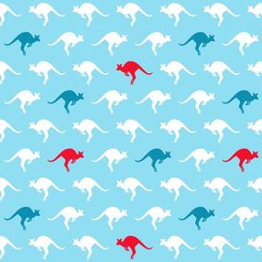 Kangaroo Party Blue