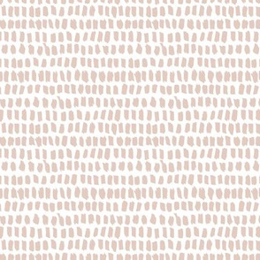 Strokes and stripes abstract scandinavian style brush design gender neutral beige XS