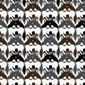 Simple Siberian Husky faces