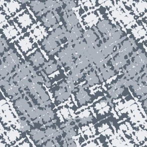 Distorted Plaid Grey