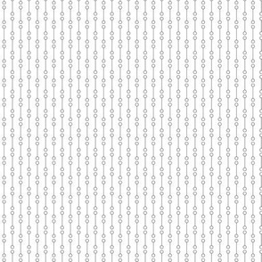 Dog's Dot Lines in Black and White