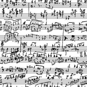 Hand Written Sheet Music // Small