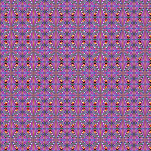 GIMP_SSD_qbist_multicolors_concentric_circles_tiled_pinched_posterized