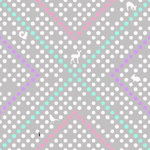 Woodland Dot Grey