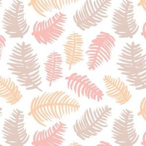 Pastel summer colors leaf illustration garden pattern orange coral girls