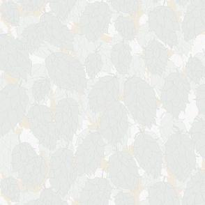 Watermark Green Hops on Pale Mustard