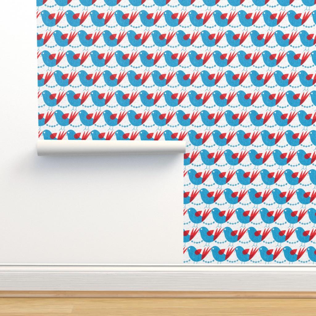 Isobar Durable Wallpaper featuring blue bird by ottomanbrim