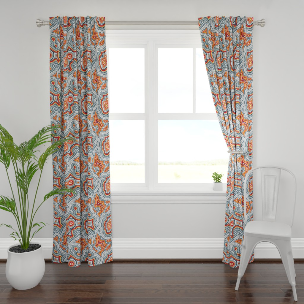 Plymouth Curtain Panel featuring Crazy Lace Agate by spellstone