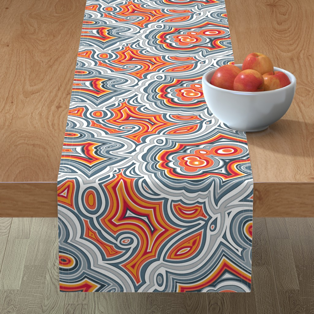 Minorca Table Runner featuring Crazy Lace Agate by spellstone