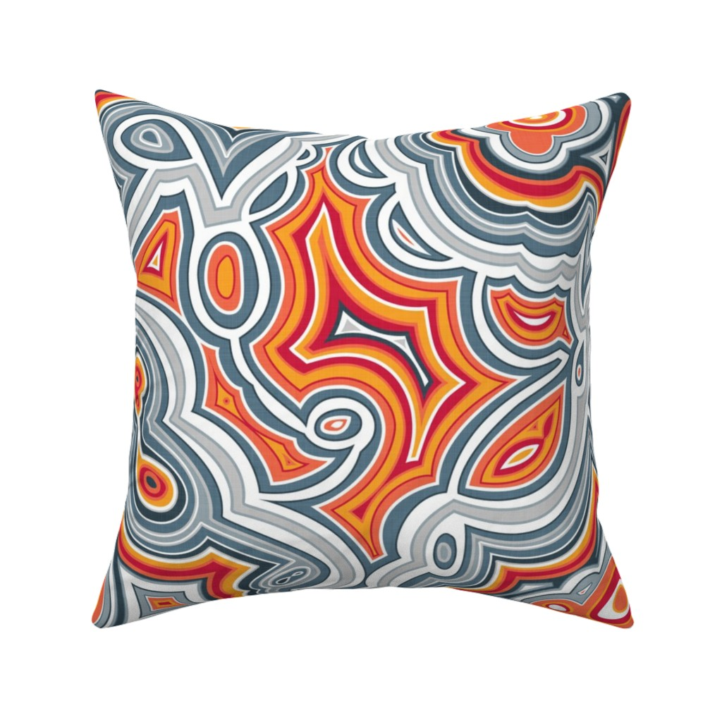 Catalan Throw Pillow featuring Crazy Lace Agate by spellstone