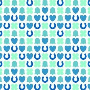 confetti zigzag : wedding blues