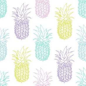 Pretty Pastel Pineapples