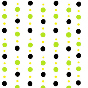 Black, Lime , and Green Polka Dots