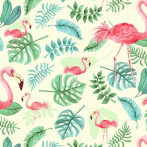 Tropical Flamingo by Angel Gerardo