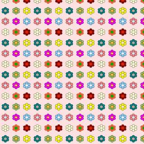 Mini flowers on pink