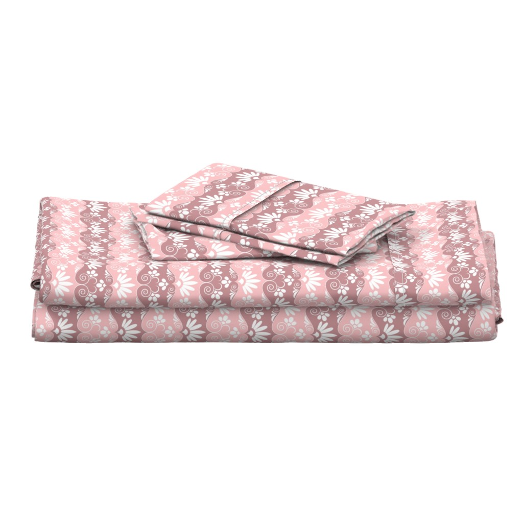 Langshan Full Bed Set featuring pink by minyanna