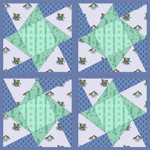 Rainy Day Twisted Star Cheater Quilt