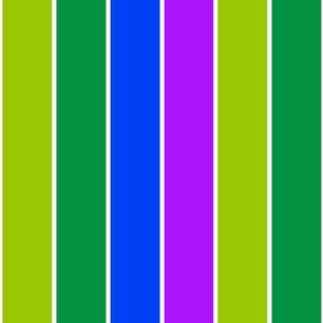 Green Fuschia  Stripes