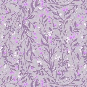 Tangled, Linen Silver Lavender Grey & Pink