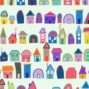Neighbors on Celery Green (Illustrated Houses)