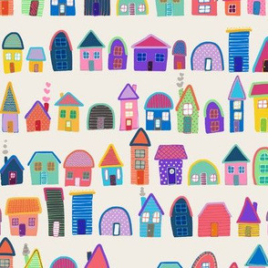 Neighbors on Mocha (Illustrated Houses)