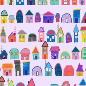 Neighbors on Lavender (Illustrated Houses)