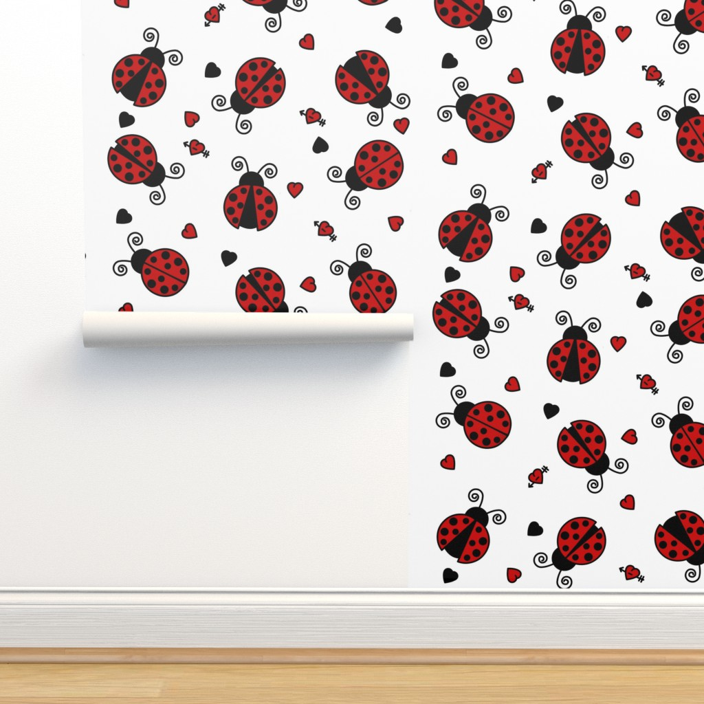 Isobar Durable Wallpaper featuring Love Bug Ladybugs by jsdesigns
