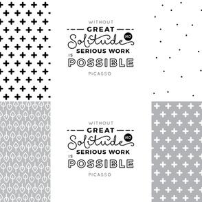 Solitude - Pillow / Cushion Cut and Sew 54''