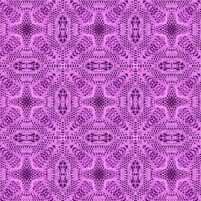 lavender magenta doily