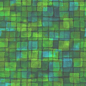 double tile in lime and aqua