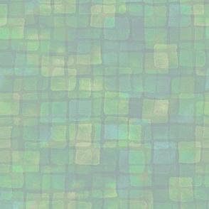 double tile in pastel yellow, green, cyan