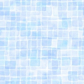 double watercolor squares in baby blue