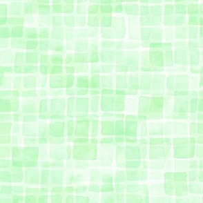 double watercolor squares in mint green