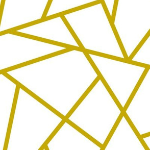 Abstract Geometric Gold on White Large