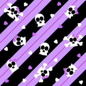 Purple Skelly-riffic Print