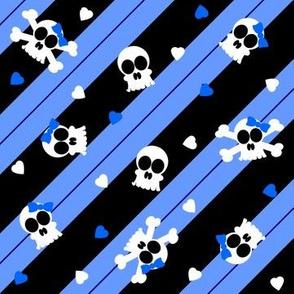 Blue Skelly-riffic Print