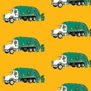 Tossed Garbage Trucks on  Golden Yellow