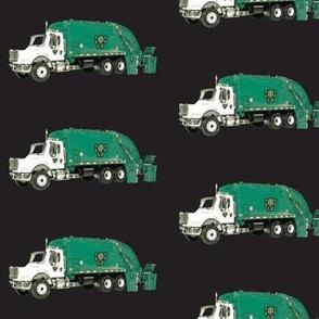 Tossed Garbage Trucks on Black