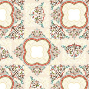 formal ornate, small pastels